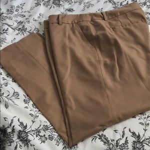 J Crew Factory Camel Wool Trousers 10